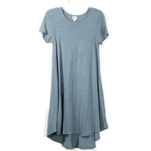Lularoe Heathered Blue Pocket T-Shirt Dress